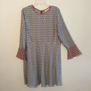 LOFT Long Sleeve Floral Dress